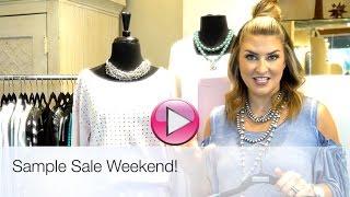 Sample Sale Weekend!