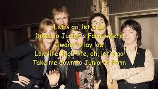 Junior's Farm Paul McCartney & Wings Lyrics