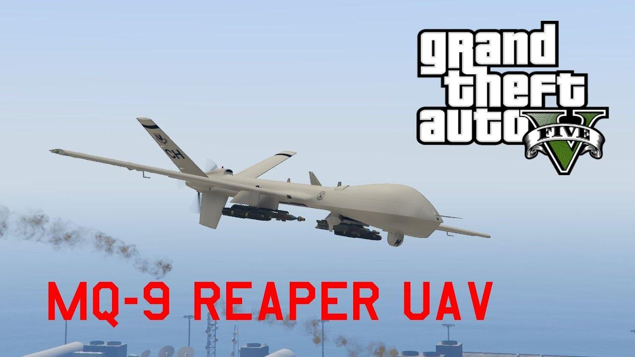 GTA V MQ 9 Reaper UAV Drone MOD