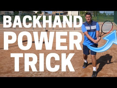 Simple Tennis Backhand Power Trick - Two Handed Backhand Tennis Lesson