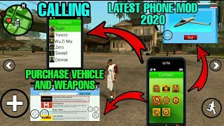 [2020] New Phone Mod + Extra + Purchase Vehicle and Weapons through Phone | Gta Sa Android