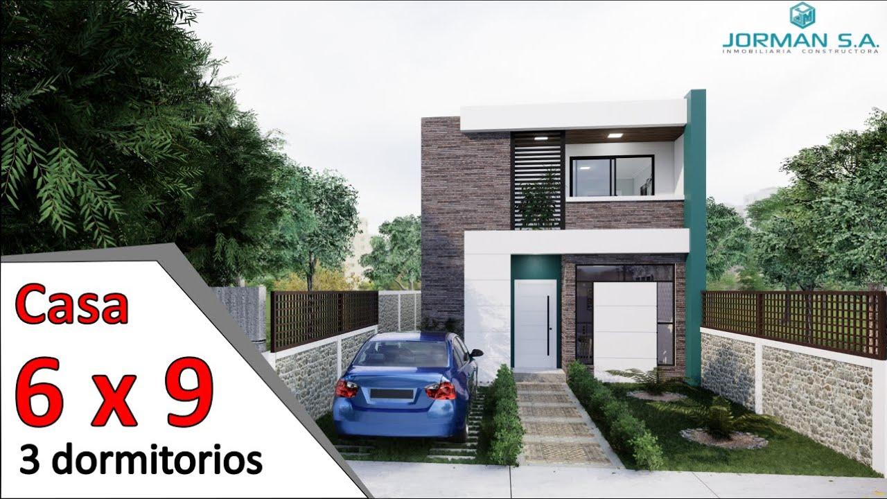 Modelo De Casas De 2 Pisos Casa 6x9 Metros 2 Storey House Design Plan Youtube