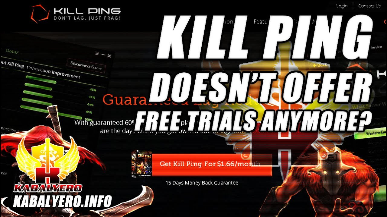 Kill Ping, A WTFast Alternative, Doesn't Offer Free Trials Anymore