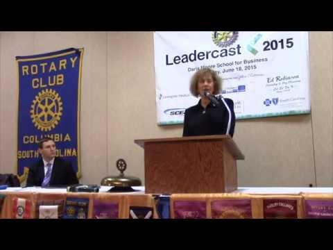 Elena Poptodorova addressed Columbia Rotary on February 23, 2015.