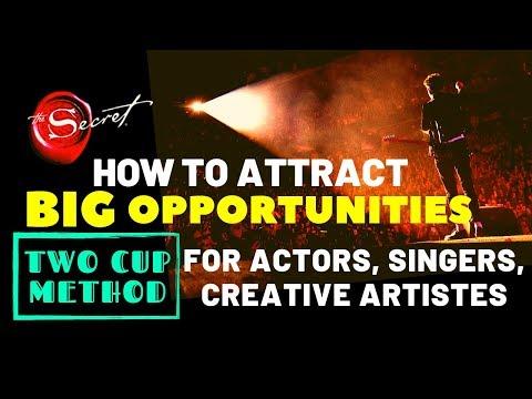 👉DO IT ✅ATTRACT BIG OPPORTUNITIES | 2 Cup Method Dedicated To Actors Singers Creative Professionals