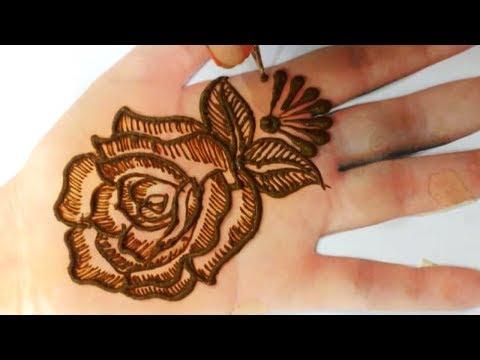 Step by Step Latest Mehndi Tutorial, मेहँदी से गुलाब का डिज़ाइन -New #UniqueMehndiDesign | BeautyZing