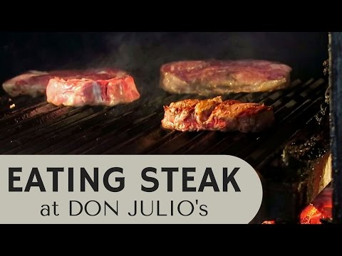 Eating Steak in Buenos Aires at a fancy steakhouse (Don Julio) in Palermo