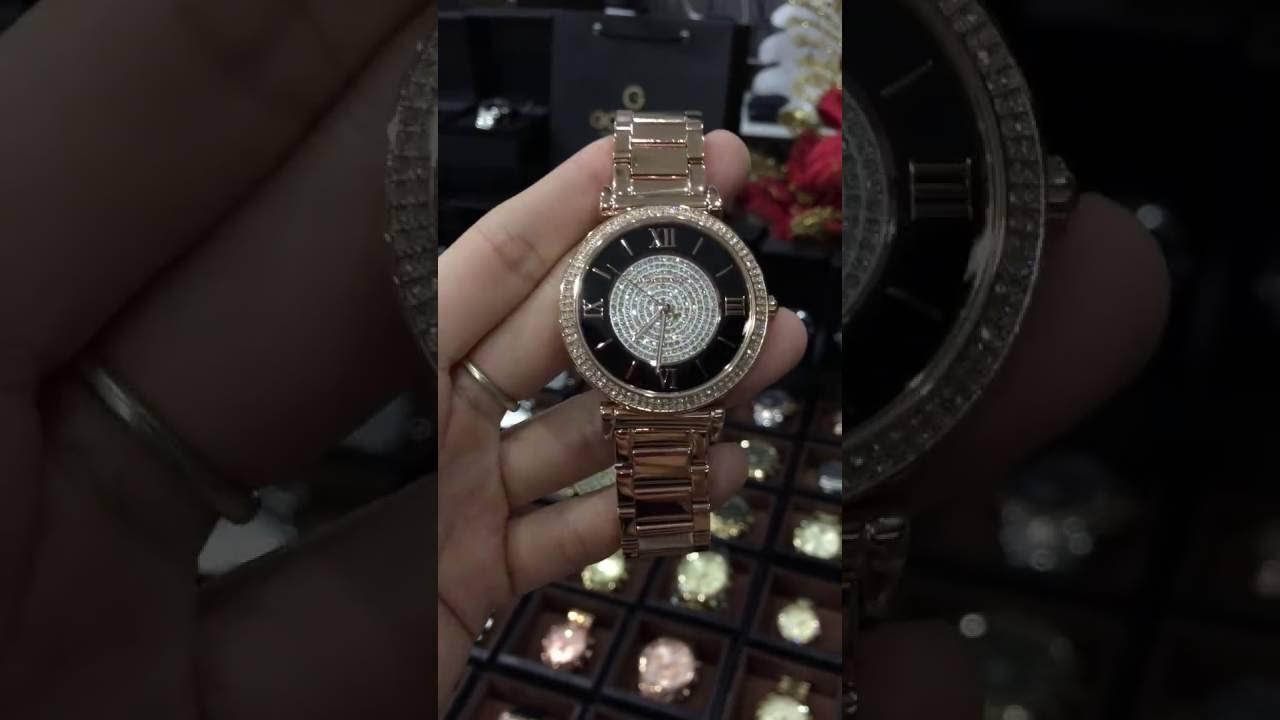 f1c40458237a Michael Kors MK3339 Women s Catlin Dial Rose Gold Steel Bracelet Watch