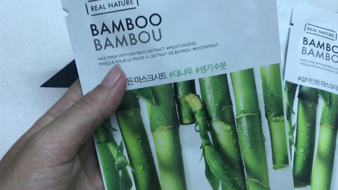 Mặt Nạ Cung Cấp Nước REAL NATURE MASK SHEET BAMBOO