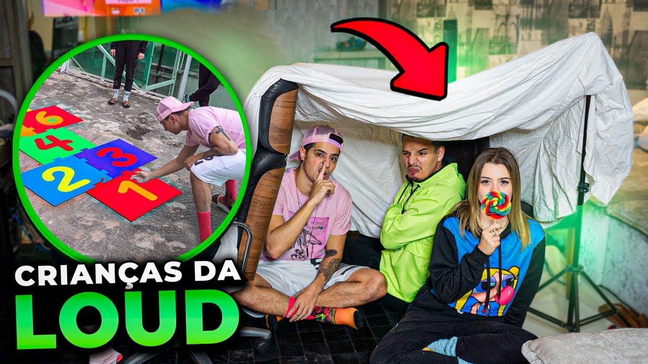 CABANA DE LENÇOL?! VIRAMOS CRIANÇAS POR 24H NA LOUD!!