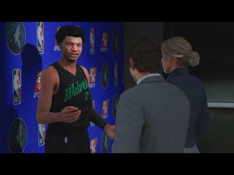 NBA 2K18 My Career - 1st Game! 1st Career Splash! PS4 Pro 4K Gameplay