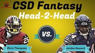 Fantasy Football 2018 - Week 3 Head 2 Head Chris Thompson vs. Jordan Howard