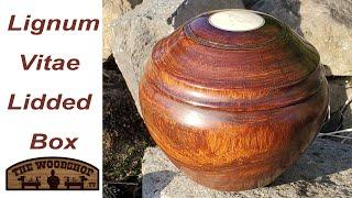 Woodturning Lignum Vitae Lidded Box