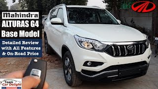 Mahindra Alturas G4 Base Model 4X2 Most Detailed Review with All Features | Alturas G2