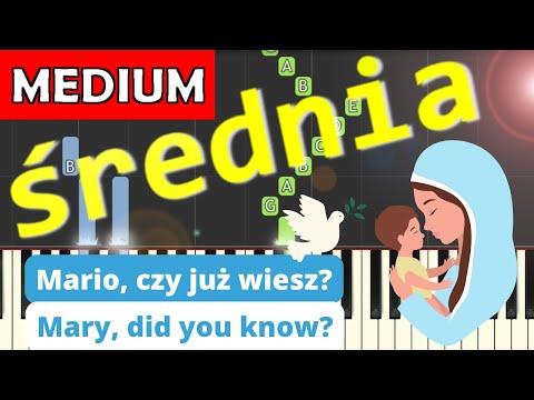 🎹 Mario, czy już wiesz (Mary did you know) - Piano Tutorial (średnia wersja) (MEDIUM) 🎹