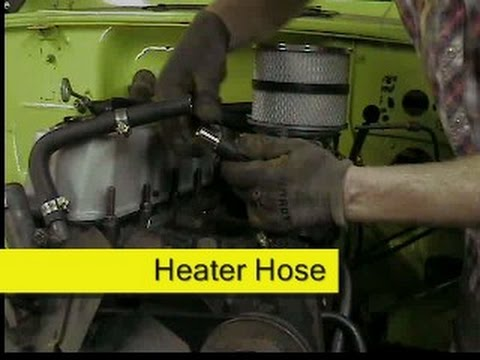 Jeep CJ7 heater hoses and thermostat  YouTube