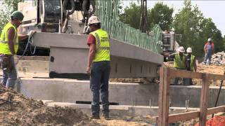 M-25 bridge replaced through accelerated bridge construction