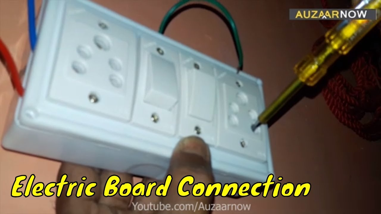 Electric Board Wiring Connection - 2 Socket 2 Switch board on