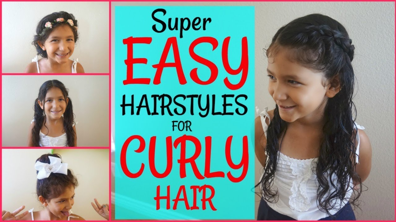 Kids Hairstyles For Curly Hair Back To School Hairstyles For Curly Hair Youtube
