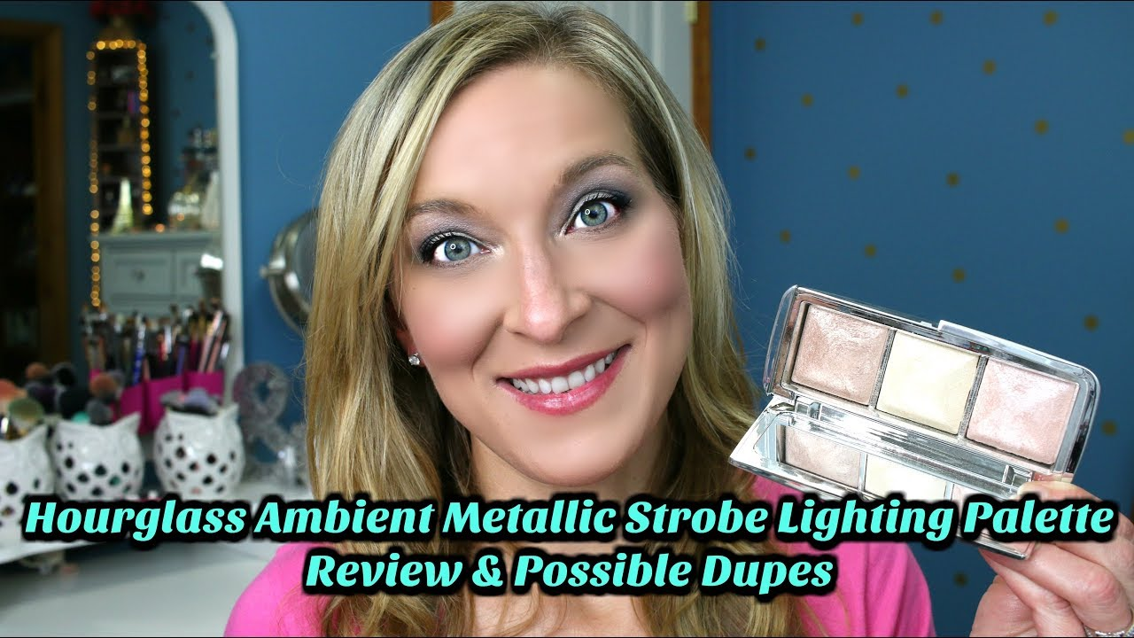 hourglass ambient metallic strobe lighting palette review possible dupes