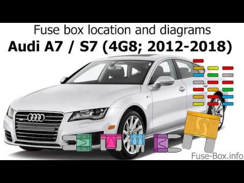 fuse box location and diagrams: audi a7 and s7 (2012-2018) - youtube  youtube