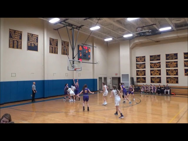 Game Highlights Girls' Varsity: Voorheesville 24 vs Holy Names 32 (F)