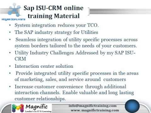 SAP ISU/CRM ONLINE Training