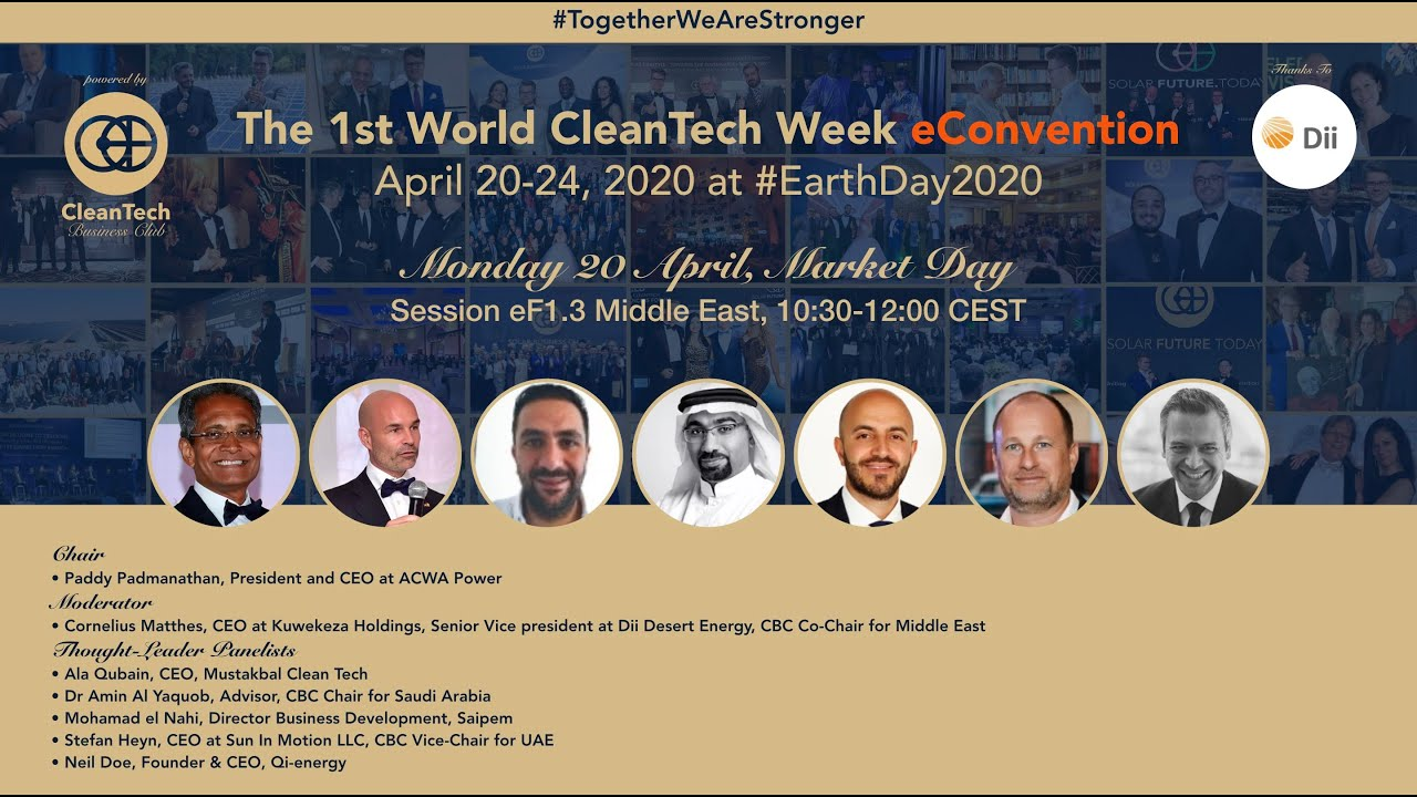 #Solar & #CleanTech Market in Middle East at The 1st World CleanTech Week eConvention #1stWCWeC