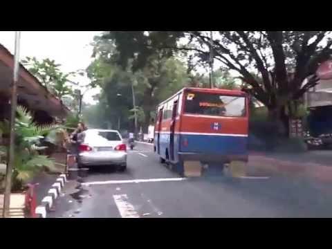 Ride in a Metro Mini bus in Jakarta, Indonesia