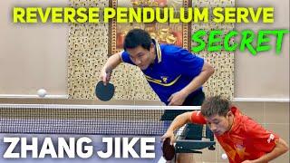 Zhang Jike's Reverse Pendulum Serve   Tutorial & Secret