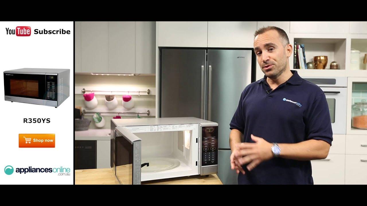sharp inverter microwave. sharp microwave r350ys reviewed by expert - appliances online inverter