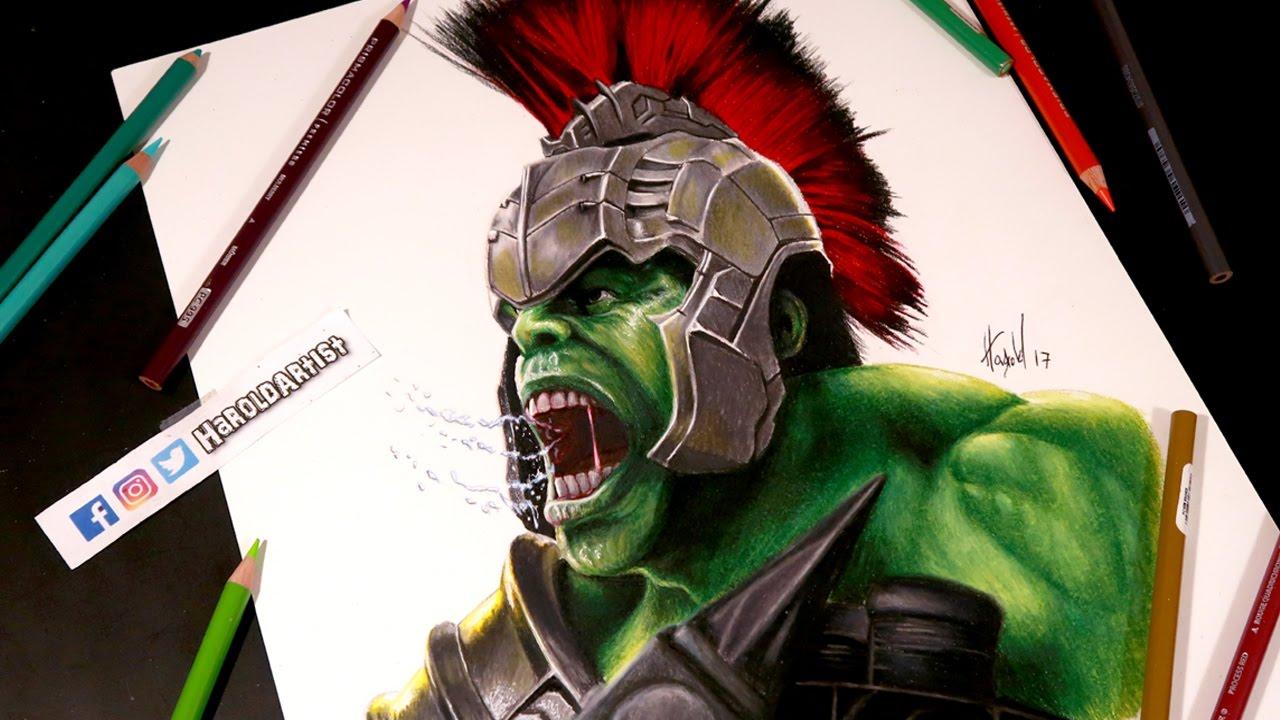Dibujo de Hulk de Thor Ragnarok