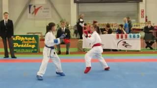 Baltic Grand Prix Budo Cup 2013 , WKF karate kumite girls 10-11 years -34kg