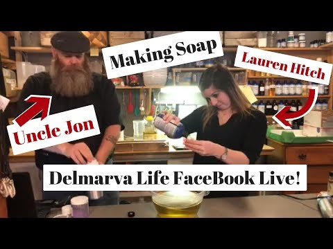Making soap on FaceBook Live with Lauren Hitch WBOC TV