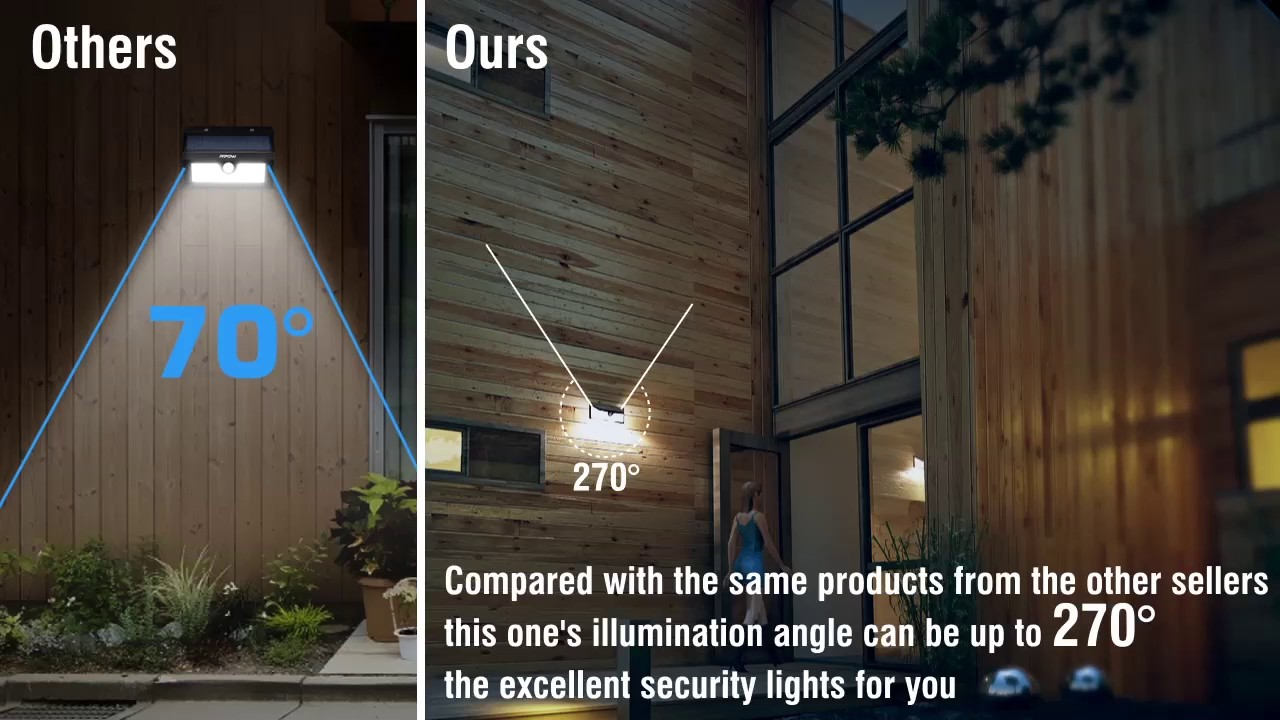 73 led solar motion sensor lights security wall lights youtube 73 led solar motion sensor lights security wall lights mozeypictures Images