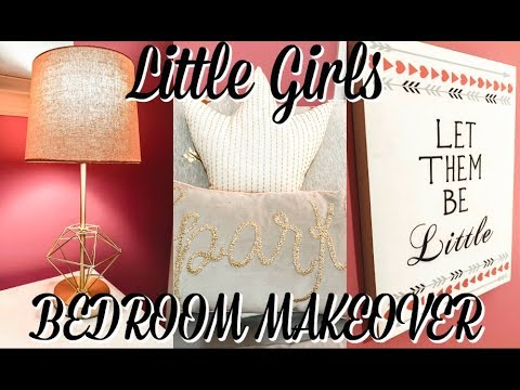CLEAN AND DECORATE WITH ME | LITTLE GIRLS ROOM MAKEOVER | Organize with me | Courtney Kohl