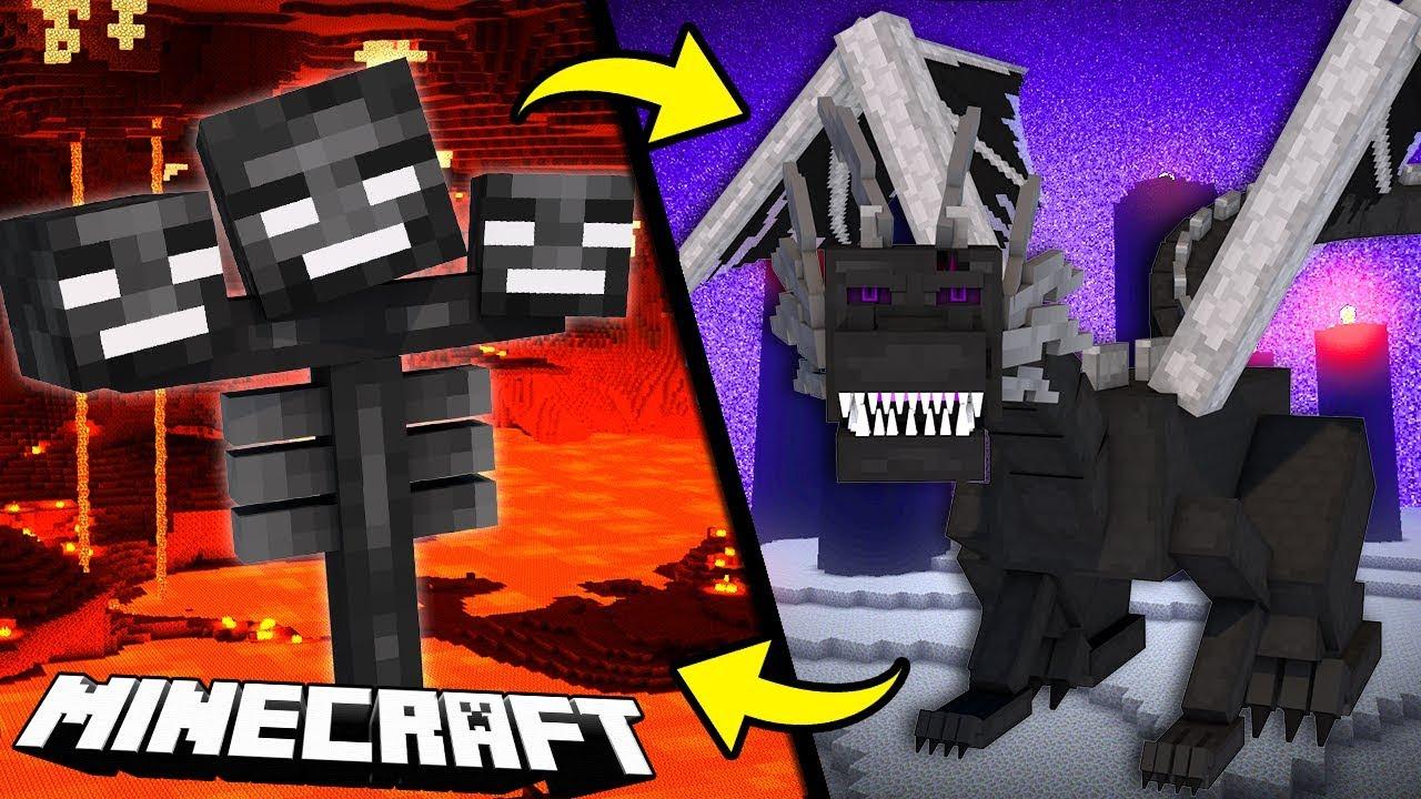 Wither Vs Ender Dragon Minecraft Piosenka Youtube