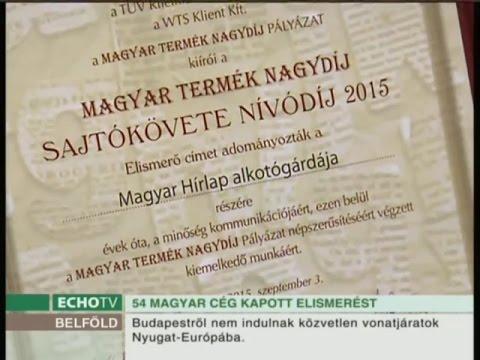 Kiemelkedő munkáért díjazták a Magyar Hírlapot