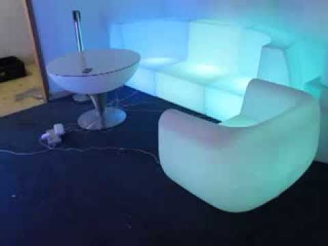Led Light Up Sofa Sl Lsc71 And Lsc117 Glowing Chair Silla For Outdoor Indoor