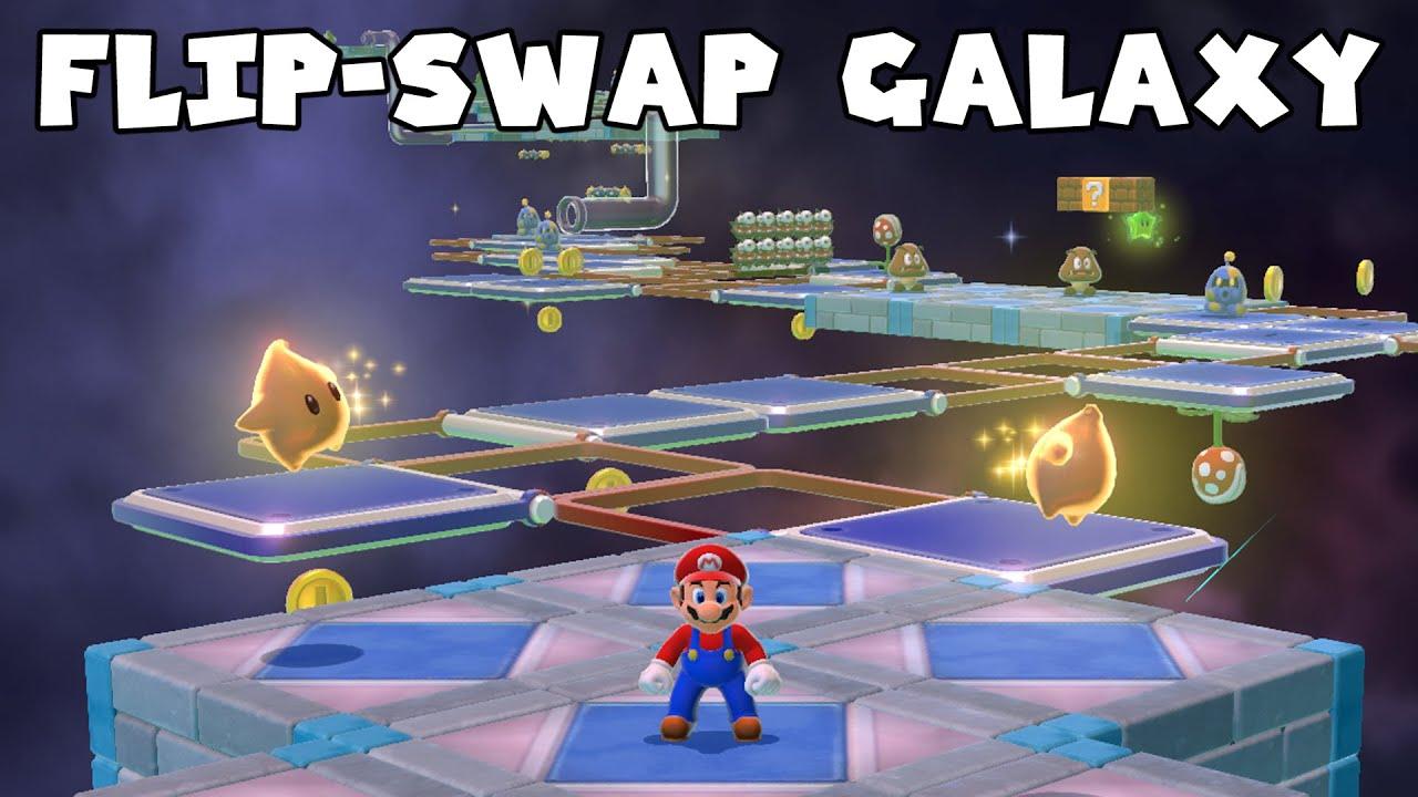Flip-Swap Galaxy Recreated in Super Mario 3D World