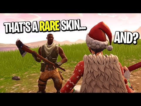I pretended to be a Noob with a Rare Skin... (KID EXPOSES ME)