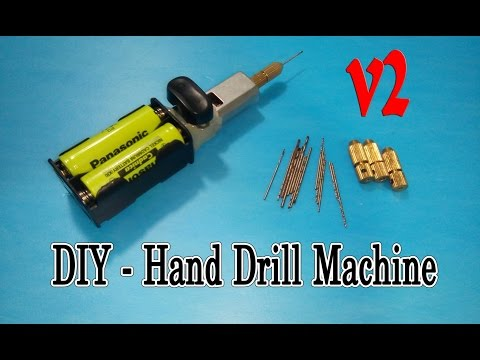 How To Make Hand Drill Machine Mini Very Simple - V2