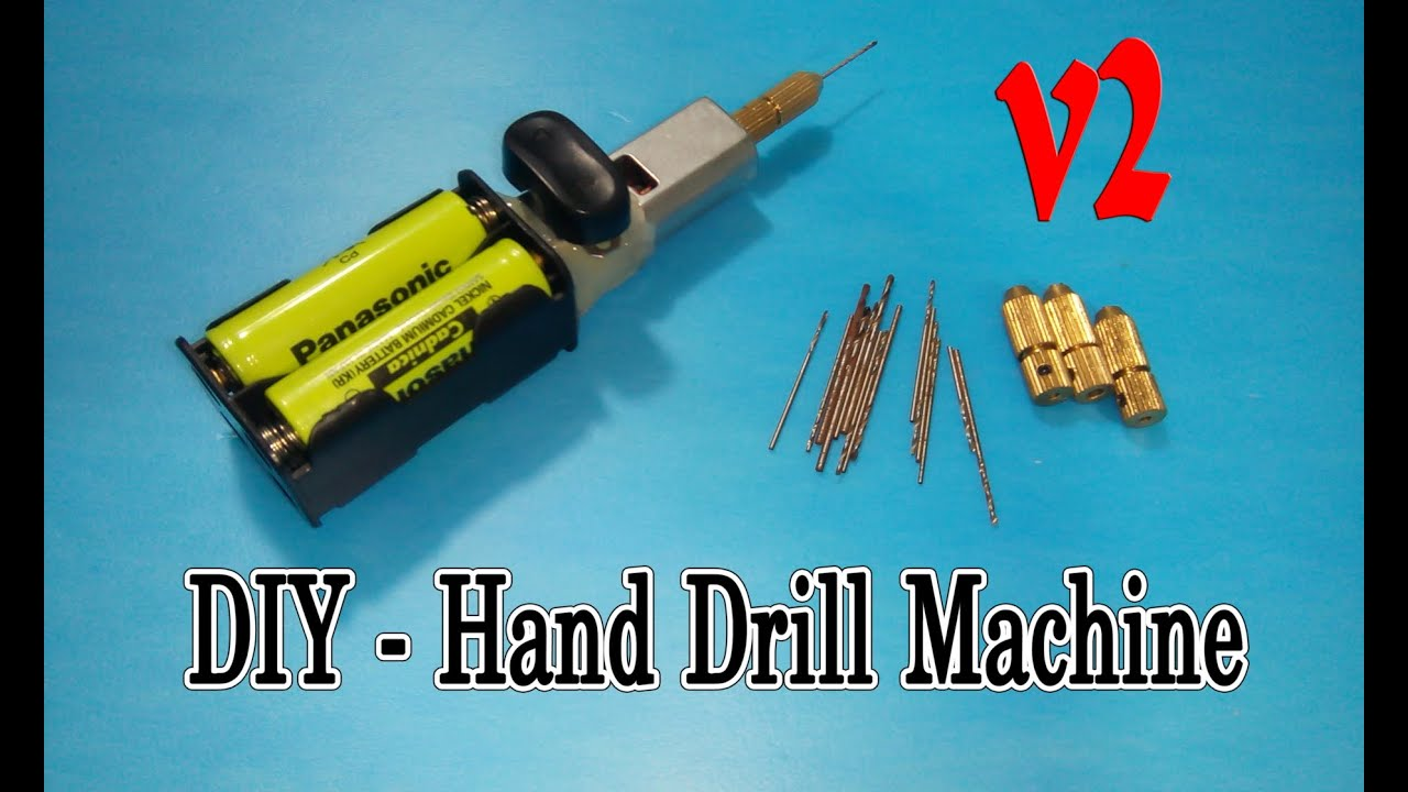 mini hand drill. how to make hand drill machine mini very simple - v2 t