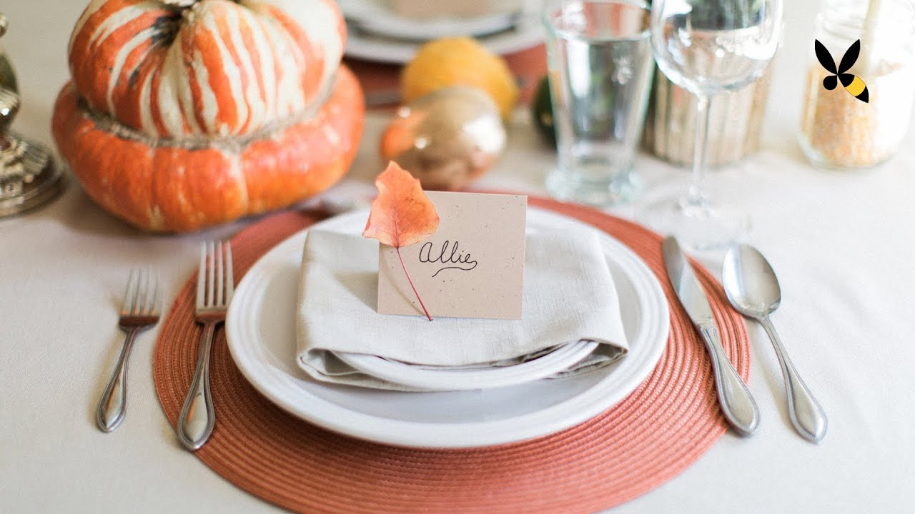 Thanksgiving Table Setting - HoneysuckleCatering - YouTube