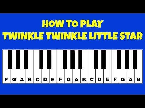 How To Play Twinkle Twinkle Little Star | Piano / Keyboard Tutorial | Letter Notes | Easy Tutorial