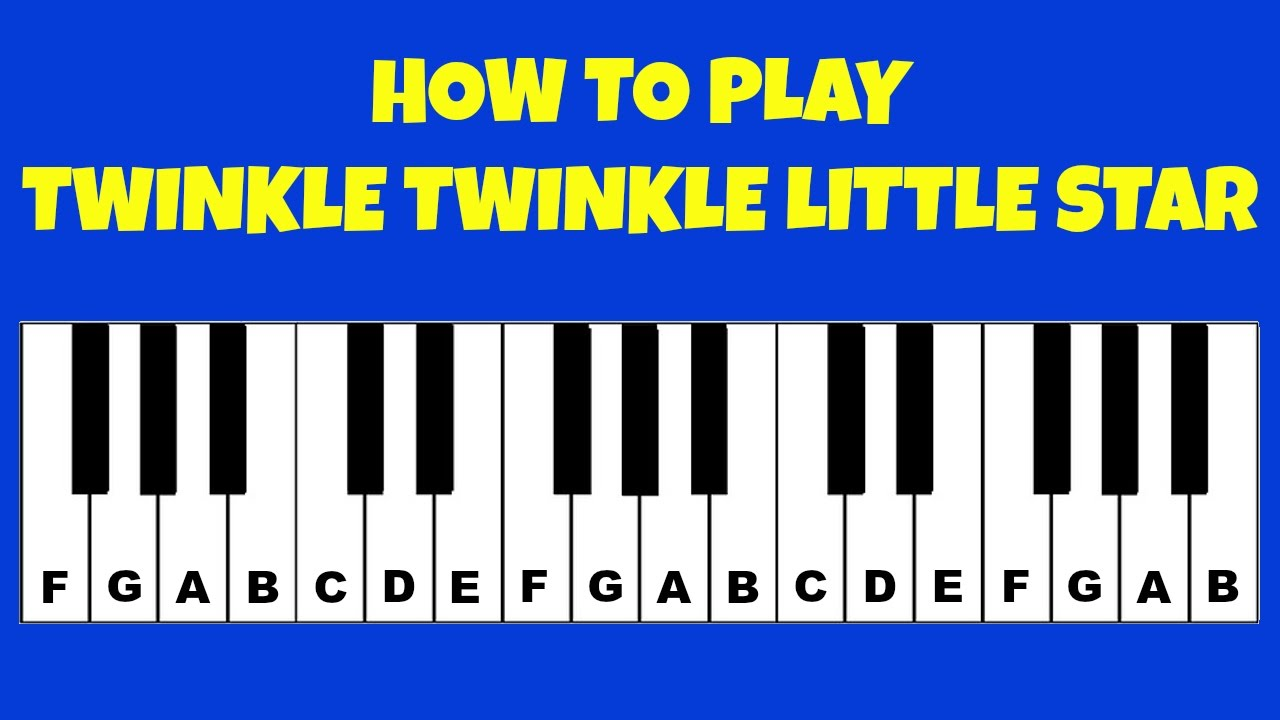 how to play twinkle twinkle little star piano keyboard tutorial letter notes easy tutorial