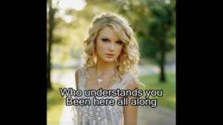 taylor swift you belong with me hq audio with slideshow and lyrics for karaoke