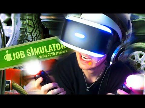 Jeg FIXER OG SMADRER biler? | Virtual Reality Job Simulator