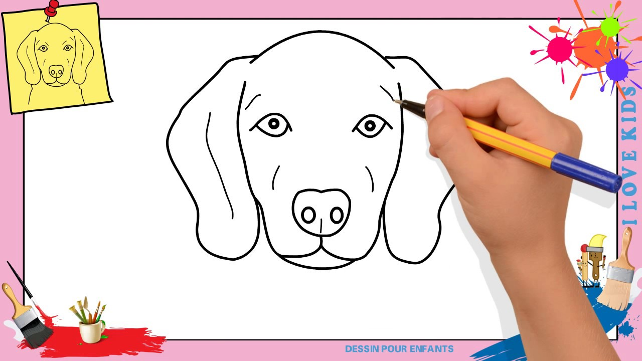 Comment dessiner un chien face 3 facilement etape par etape youtube - Comment dessiner un elephant facilement ...