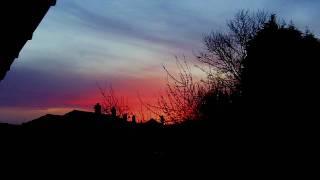 UK Spring Dawn breaks-blackbird sings- 18/4/10